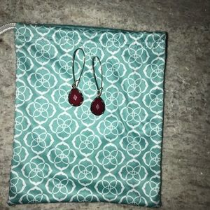 Kendra Scott Dark Red Earrings